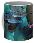 Green Nebular Expanse Coffee Mug by Corey Ford