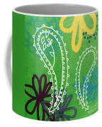 Green Paisley Garden Coffee Mug