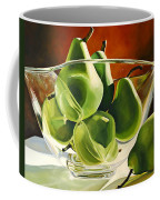 Green Pears In Glass Bowl Coffee Mug