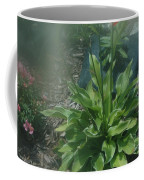 Green Plant And Pink Flowers  Coffee Mug