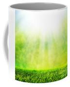 Green Spring Grass Against Natural Nature Blur Coffee Mug