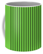 Green Striped Pattern Design Coffee Mug