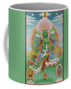 Green Tara With Retinue Coffee Mug