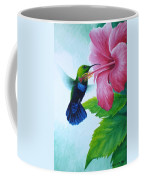 Green-throated Carib And Pink Hibiscus Coffee Mug