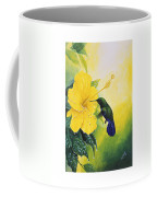 Green-throated Carib Hummingbird And Yellow Hibiscus Coffee Mug