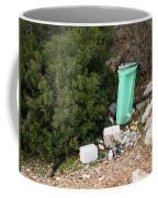 Green Trash Bag And Rubbish In Croatia Coffee Mug