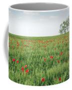 Green Wheat Field Spring Scene Coffee Mug