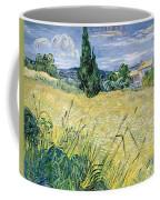 Green Wheatfield With Cypress Coffee Mug