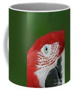 Green-winged Macaw Close Up Coffee Mug