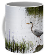 Grey Heron #3 Coffee Mug