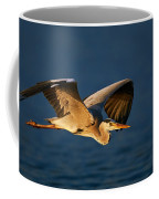 Grey Heron In Flight Coffee Mug