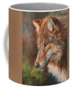 Grey Wolf Face Coffee Mug