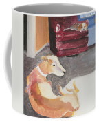 Greyhound And Spaniel Coffee Mug