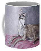 Greyhound At Rest Coffee Mug by George Pedro