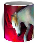 Greyhound Dog Portrait  Coffee Mug by Svetlana Novikova