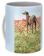 Greyhound In Poppies Coffee Mug