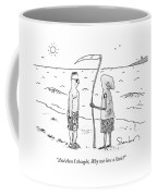 Grim Reaper Wearing A Swimsuit At The Beach. Coffee Mug