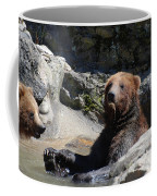 Grizzlies Snacking On Things They Find In A River Coffee Mug