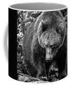 Grizzly Bear In Black And White Coffee Mug
