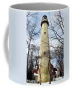 Grosse Point Lighthouse Winter Coffee Mug