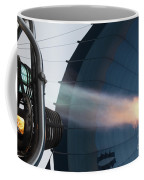 Ground Crew Preparing A Hot Air Balloon Before Takeoff Coffee Mug