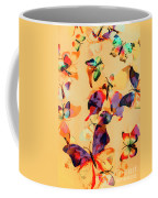 Group Of Butterflies With Colorful Wings Coffee Mug