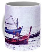 Group Of Fishing Boats Coffee Mug