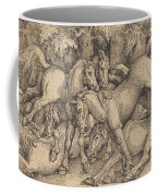 Group Of Seven Horses In Woods Coffee Mug