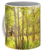 Grove Of Aspens On An Autumn Day Coffee Mug