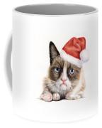 Grumpy Cat As Santa Coffee Mug