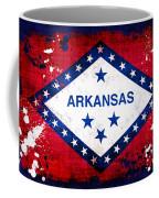 Grunge Style Arkansas Flag Coffee Mug