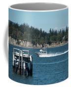 Guemes Island And Fishing Boat Coffee Mug