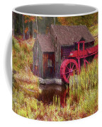 Guildhall Grist Mill In Fall Coffee Mug