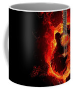 Guitar On Fire Coffee Mug