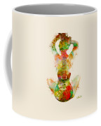Guitar Siren Coffee Mug by Nikki Smith
