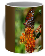 Gulf Fritillary On Butterflyweed Coffee Mug