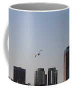 Gull In Flight Over Pacific Coffee Mug