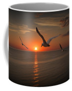 Gulls Flying Towards The Sun Coffee Mug