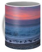 Gulls With Pink Sky Coffee Mug