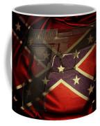 Gun And Confederate Flag Coffee Mug