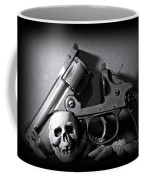 Gun And Skull Coffee Mug