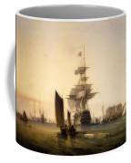 H M S Britannia Entering Portsmouth Coffee Mug