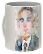 H. P. Lovecraft - Watercolor Portrait.3 Coffee Mug