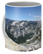 Half Dome And Yosemite Valley From The Diving Board - Yosemite Valley Coffee Mug