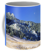Half Moon Over The Flatirons Coffee Mug