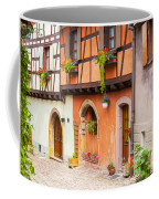 Half-timbered House Of Eguisheim, Alsace, France.  Coffee Mug