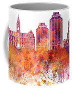 Halifax V2 Skyline In Watercolor Background Coffee Mug