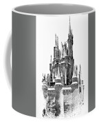 Hall Of The Snow King Monochrome Coffee Mug