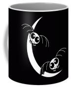 Halloween Bats And Crescent Moon Coffee Mug