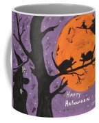Halloween Cat Fight Coffee Mug